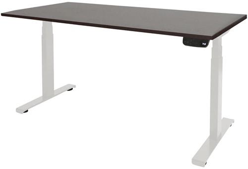 Elektrisch verstelbaar zit/sta bureau - 140x80 - Logan eiken - Wit