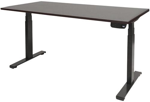 Elektrisch verstelbaar zit/sta bureau - 140x80 - Logan eiken - Zwart