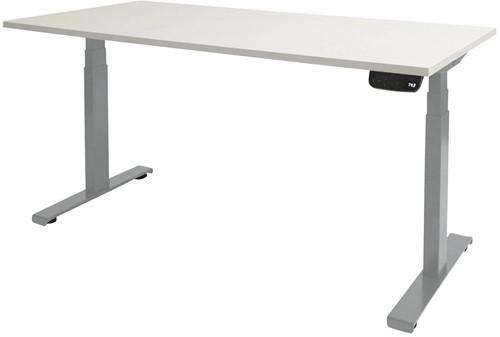Elektrisch verstelbaar zit/sta bureau - 140x80 - Krijtwit - Aluminium