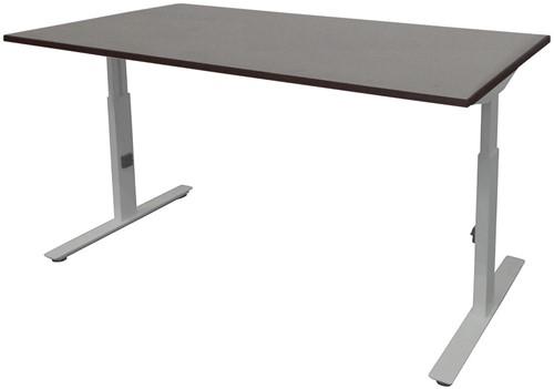 Bureau hoogte instelbaar - 120x80 - Logan eiken - Aluminium
