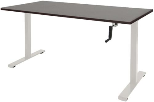 Bureau slinger verstelbaar (zit/sta) - 120x80 - Logan eiken - Wit