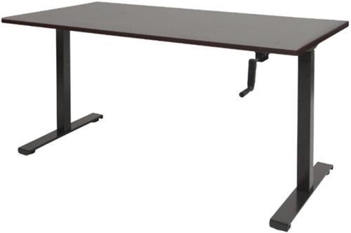 Bureau slinger verstelbaar (zit/sta) - 140x80 - Logan eiken - Zwart
